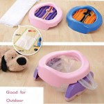 Children Plastic Toilet Potties Seat Chamber Pots Kids Trainers Comfortable Portable Toilet Ring Baby Travel Potty Folding Chair