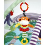 Baby Hanging Rattle Toys Elephant Cattle Plush Doll Music Mobile Crib Bed Lathe Rattles Infants Bell Teethers Toy for a Stroller