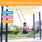 3 in 1 Multifunctional Children Swing Kindergarten Playground Family Large Space Color Baby Swing Children Outdoor Toys Gifts