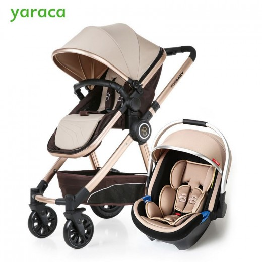 Baby Stroller 3 In 1 High Landscape Carriages For Kids With Car Seat Prams Newborns Pushchair