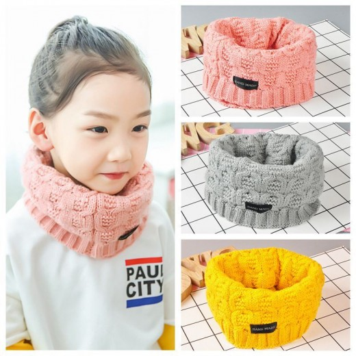 Wool Fashion Kids Baby Infant Winter Boys Girls Collar Baby Knit Soft Infinity Scarf Ring Neck Scarves