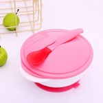 1 Set Kids Dish Safety Feeding Baby Dishes Bowl Training Spoon Suction Cup Bowl Tableware Food Container