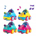 Best Toy Gift for Baby! Educational Colorful Electric Flashing Music Car Multifunctional Interactive Sound Car Toys for Kids