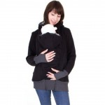 S-2XL Baby Carrier Jacket Kangaroo Hoodie Winter Maternity Hoody Outerwear Coat For Pregnant Women Carry Baby Pregnancy Clothing