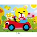 20 designs DIY Cartoon Animal 3D EVA Foam Sticker Puzzle Series Early Learning Education Toys for Children