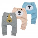 Spring 3 Pieces Baby Pants Cartoon Toddler Boy Girl Leggings Full Length Elastic Waist Kids Pant Trousers Baby Clothes