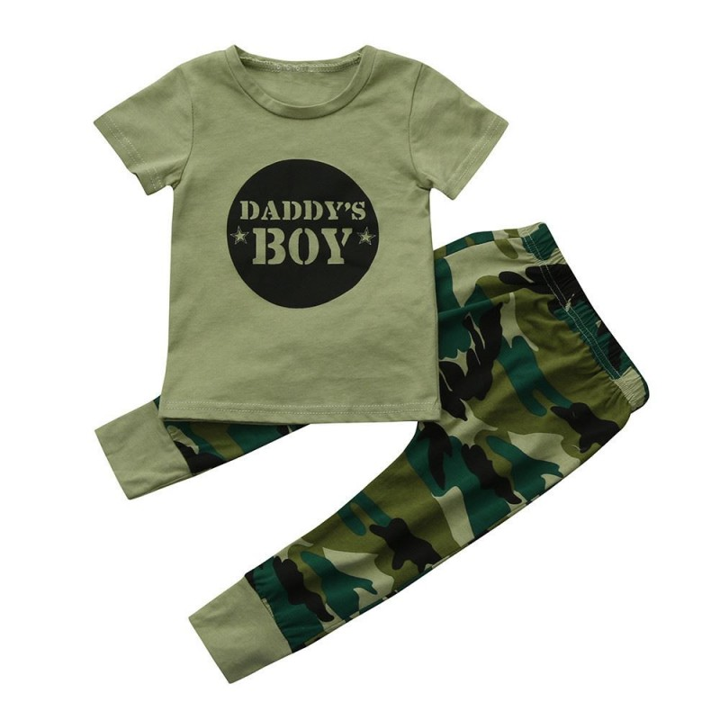 88e870ca ... MUQGEW baby clothing Newborn Toddler Baby Girls Boys Cotton O-Neck  Letter Printed Tops Camouflage ...