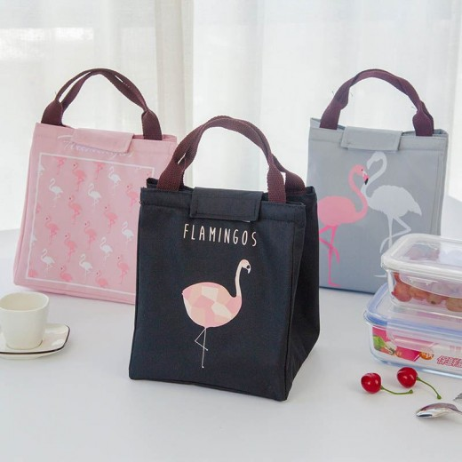 Baby Milk Bottle Insulation Bags Flamingo Waterproof Oxford Lunch Bag Infant Kids Food Warmer Thermal Bag
