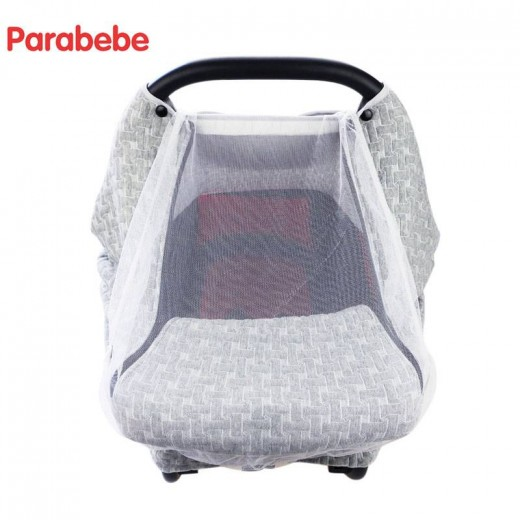 Luxury Baby Car Seat Cover For Newborn Mesh Canopy Accessories Carseat Infant Basket Stroller