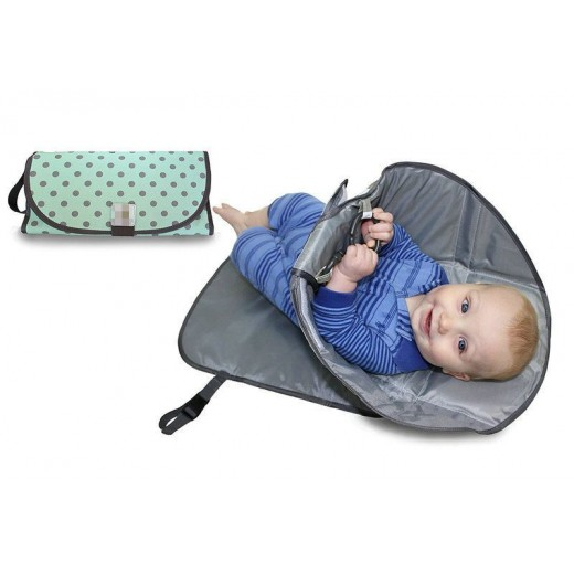 [ Clean Hands Changing Pad. 3 in 1 Diaper Clutch Changing Station and Diaper-Time Playmat With Redirection Barrier ] Camera bag