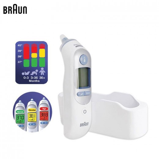 Braun Thermometer IRT6520 Temperature Meter ThermoScan 7 Age Precision Ear Thermometers Family Health Monitors Care Lens Filter