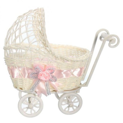 Buy Wicker Hamper Pram Basket Flower Vase Storage Organizer Baby