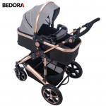 Bedora High Landscape Baby Stroller Four Seasons kids For 0-3 Years Old  Multi-Position Adjustment trolley 9 Gifts